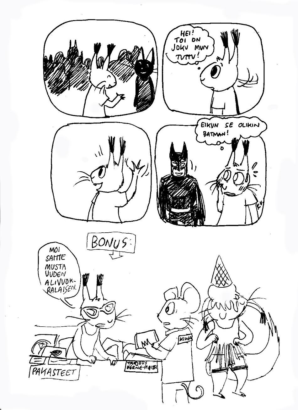 Kai muillekin käy näin? Tosi hassua että mulla on moneen fiktiiviseen hahmoon paljon läheisempi suhde kuin eläviin ihmisiin. (heh, no kai se niin menee kun on sarjakuvapiirtäjä!) Tää oli tosiaan Ropeconissa, olin siellä myymässä perjantaina sarjiksiani ja törmäsin tähän upeaan cosplay-asuun!