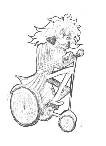 (lol en osaa piirtää anime-tyylillä sitten pätkääkään... hyvä niin! Fujimoto on parashahmo Ponyossa.